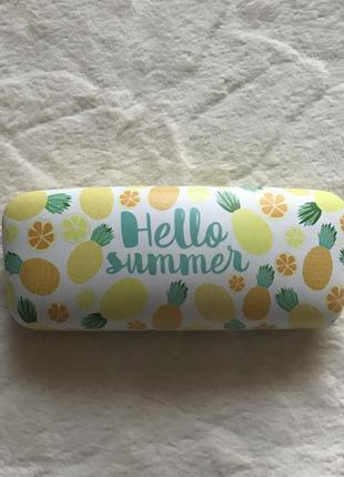 Новый чехол для очков hello summer ананас4