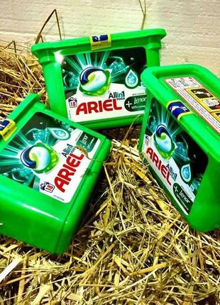 Капсулы для стирки ariel all in 1 lenor unstoppable 18 капсул