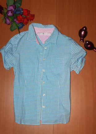 Классная рубашка tommy hilfiger размер 10 (м)