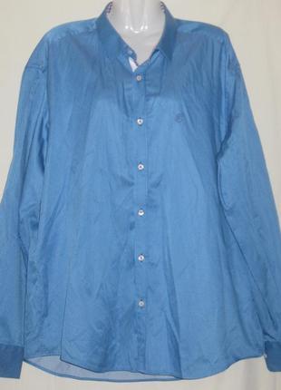 Рубашка мужская с длинным рукавом. 52-54  размер, см мерочки