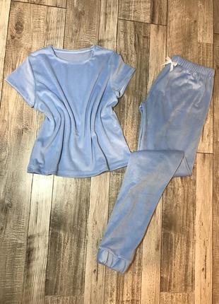 Пижама футболка и штани / плюшева пижама / піжамка