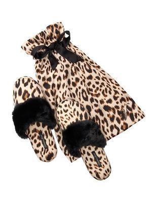 Домашние леопардовые тапочки victoria's secret