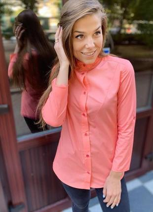 Рубашка женская воротник стойка
