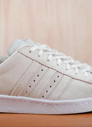 Замшевые кроссовки, кеды adidas superstar 80s metal toe. 38 размер. оригинал