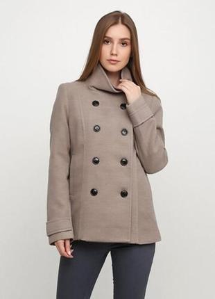 Пальто бежевое куртка h&m xxs, xs, s, m жакет курточка полупальто демисезонная