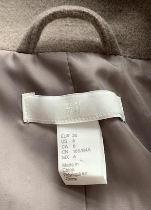 Пальто бежевое куртка h&m xxs, xs, s, m жакет курточка полупальто демисезонная3 фото