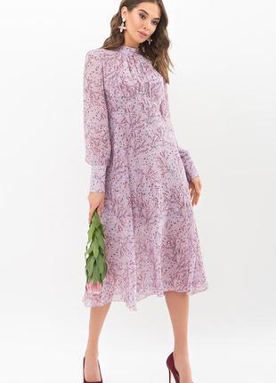 Платье сирень. принт (4 расцветки)2 фото