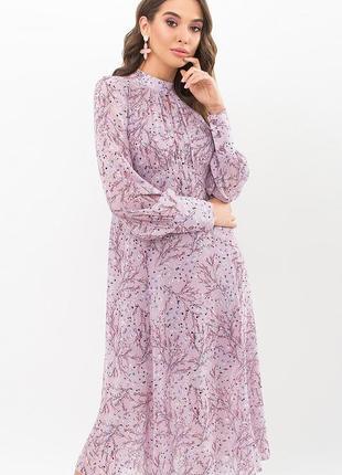 Платье сирень. принт (4 расцветки)3 фото