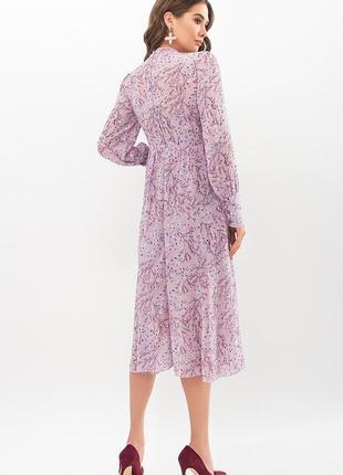 Платье сирень. принт (4 расцветки)4 фото