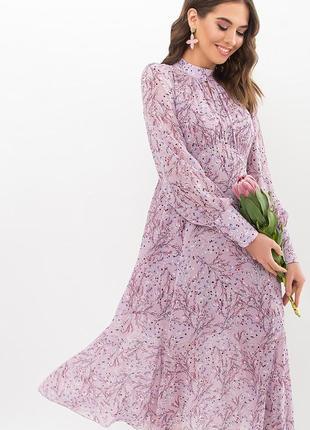 Платье сирень. принт (4 расцветки)