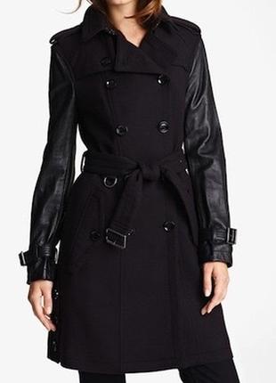 Оригинал двубортное шерстяное пальто burberry brit