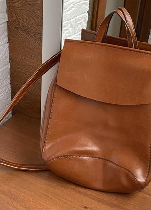 Кожаный рюкзак1 фото
