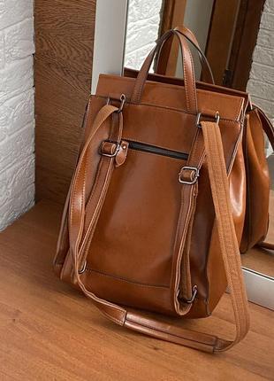 Кожаный рюкзак2 фото
