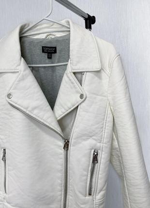 Плотная куртка косуха кожанка top shop