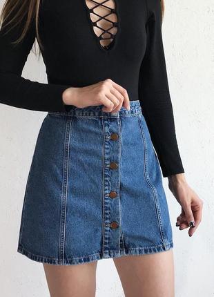 Короткая джинсовая юбка denim co