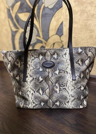 Кожаная сумка «питон»