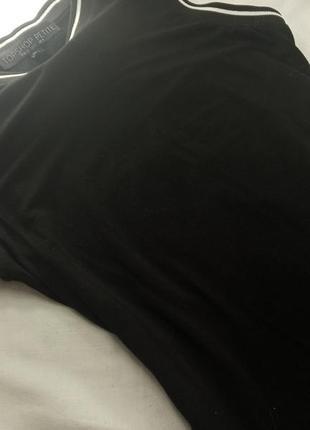 Классное платье майка стиль преппи topshop petite чёрная по фигуре облегающее6 фото