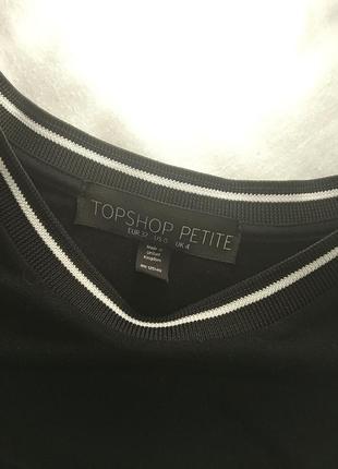Классное платье майка стиль преппи topshop petite чёрная по фигуре облегающее5 фото