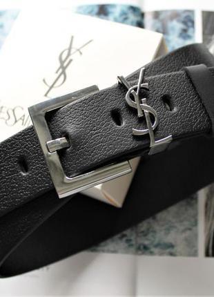 Женский кожаный ремень пряжка серебро