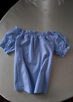 Женская блуза с открытыми плечами в полоску mango размер s