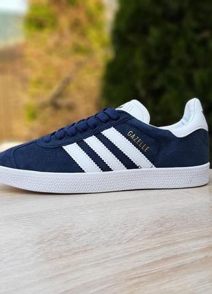 Женские кроссовки adidas gazelle синие с белым скидка 36, 38 размер sale