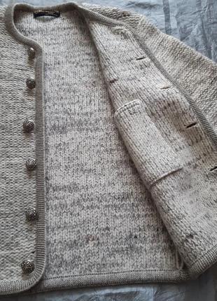 Винтажный австрийский кардиган пиджак кофта шерсть geiger