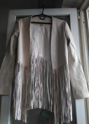 Пиджак с бахромой amisu