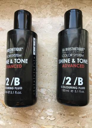 La biosthetique shine & tone advanced прямой тонирующий краситель 150ml.