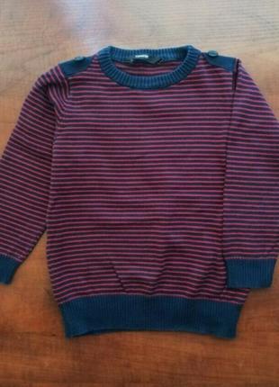 Джемпер george 2-3 года хлопок свитер кофта реглан джордж