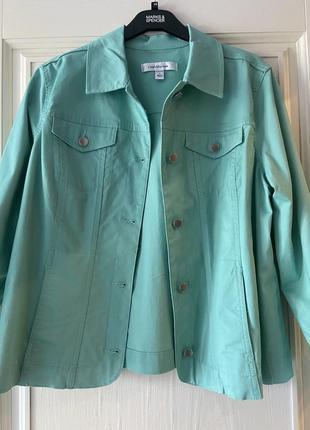 Джинсовая куртка жакет croft&barrow