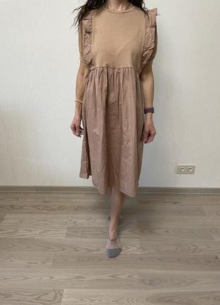 Зефирное платье оверсайз