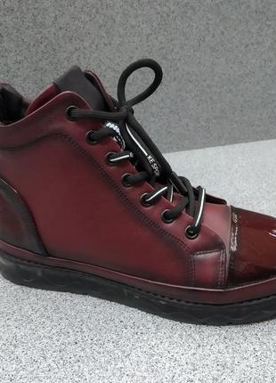 Днмисезонные кожаные ботинки распродажа