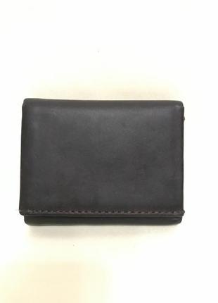Новый черный кожаный кошелёк marks & spencer1