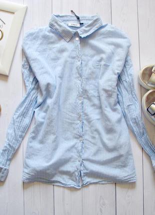 Красивая легкая хлопковая рубашка блуза свободного кроя