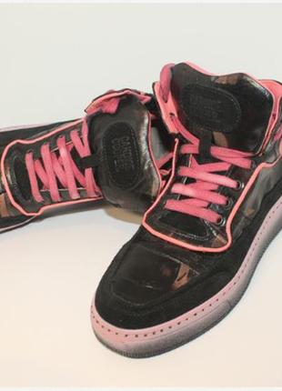 Кеды высокие кожаные  ботинки
