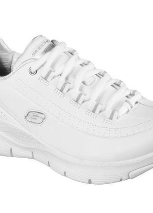 Кожаные женские кроссовки скетчерс / модні жіночі кросівки skechers