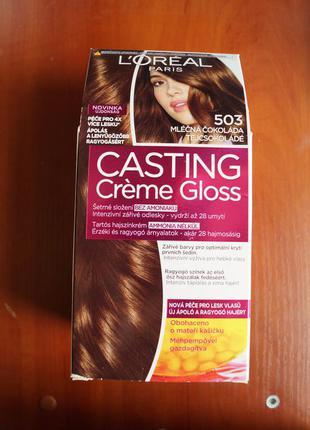"Безаммиачная краска для волос l'oreal casting creme gloss оттенок 503 ""молочный шоколад"""