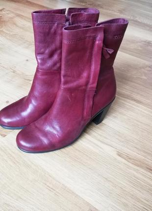 Нові шкіряні черевики на каблуку