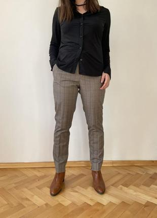 Супер стильные брюки в клеточку осень 2021под пиджак