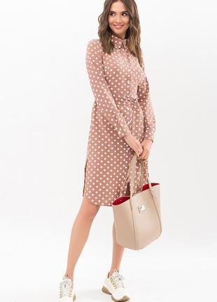 Платье - рубашка горох (4 расцветки)