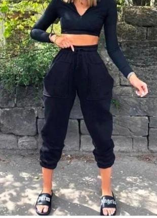 Трендовые женские спортивные штаны джоггеры