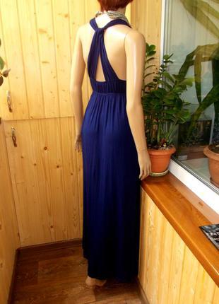 Красивое длинное платье из вискозы по бирке 10 подойдет и на 8