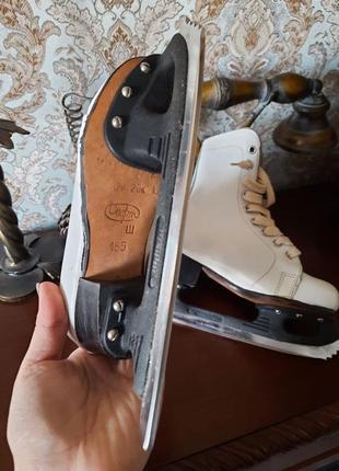 Детские белоснежные коньки, для фигурного катания на льду