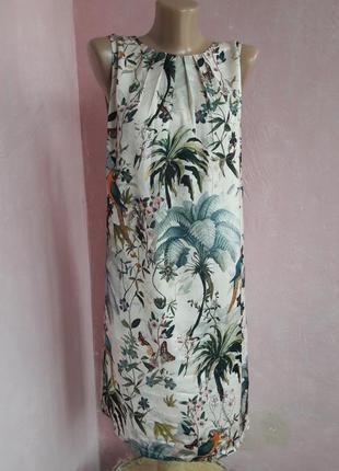 Платье футляр тропики