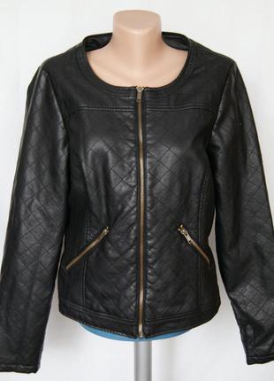 Куртка стеганная из искусственной кожи