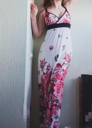 Сарафан платье в цветах от oodji