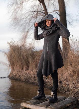 Дизайнерское женское пальто meri mir, размер m