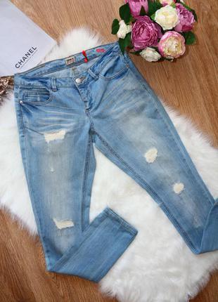 Крутые рваные джинсы скинни only
