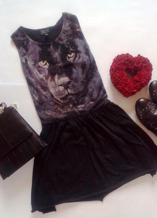 Сарафанчик с пантерой topshop платье сарафан принт пантера