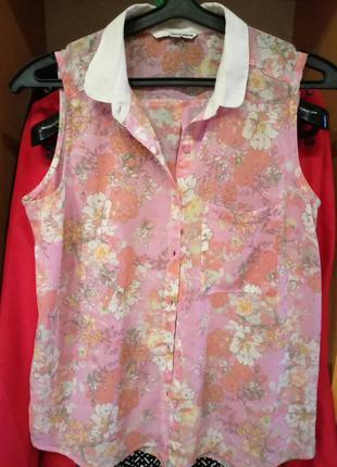 Классная легкая брендовая летняя блуза tally weijl